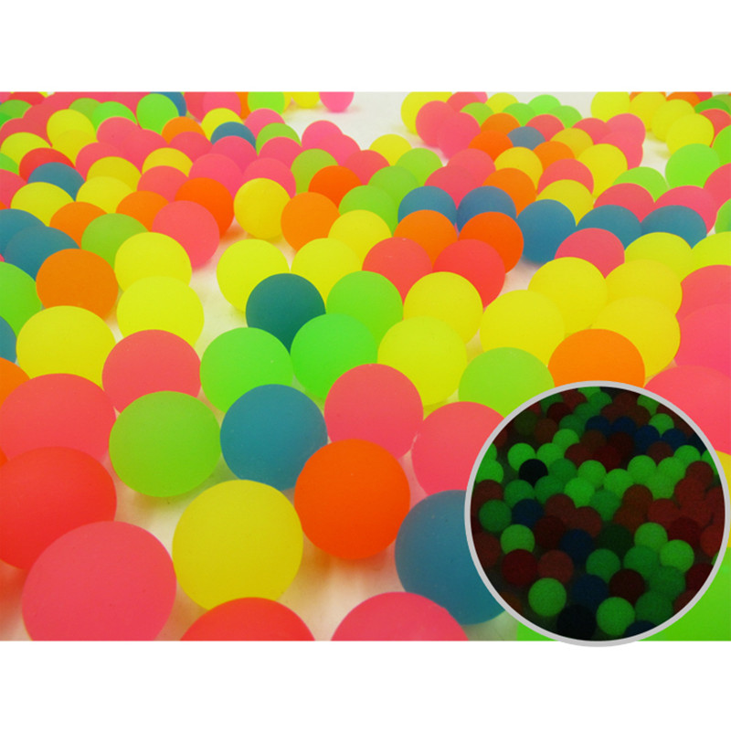 50pcs luminous bouncing balls,night lights party play game play balls for children kids pets,birthday party gifts decorations