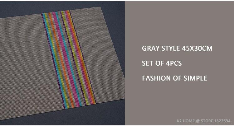 pvc 45x30 cm colocação de mesa moda