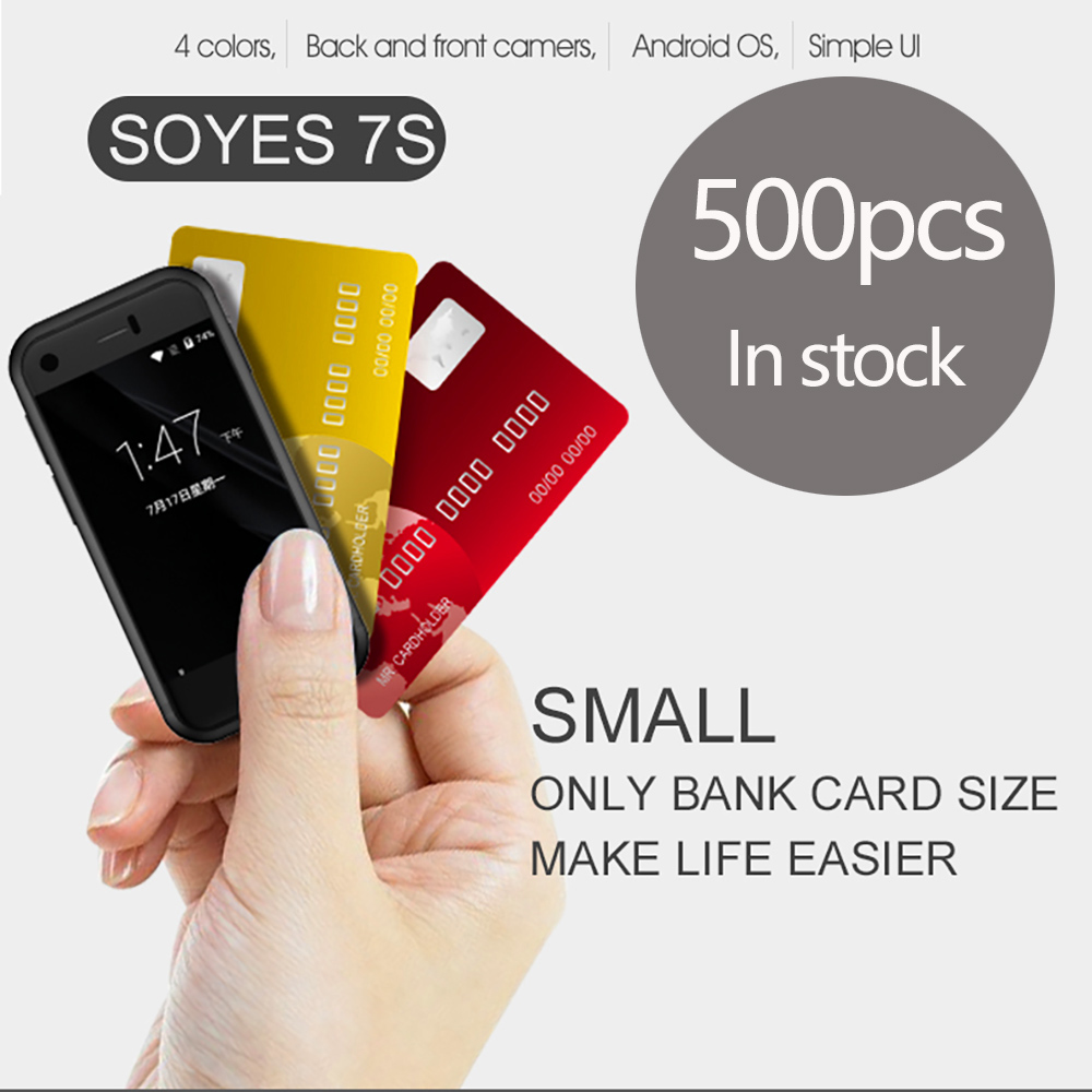 SOYES 7S Dual SIM Dual Standby Smallest mini 3G Data Ultra thin Smartphone Android 5.1 Bluetooth4.0 & 1G+8G Memory Pedometer