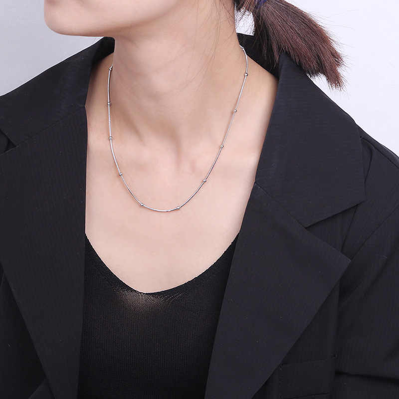 24 Styles Standard Chain Stainless Steel Link Necklace Women Thin Snake Chains Necklace Men Miami Cuban Hip Hop Necklace Jewelry