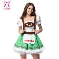 Corzzet Halloween Maid Service Uniform Temptation Beer Girl Oktoberfest Costume German Wench Fancy Party Club Bar Dress Cosplay