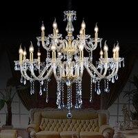Lampadario 18 moderni lampadari di cristallo moderne kronleuchter aus kristall fornitori nero lampada di cristallo sala da pranzo luci