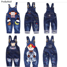 Baby Denim Pants Overalls Dungarees Kids Toddler Jeans Infant Jumpsuit Clothes Baby Boys Girls Clothing Outfits Trousers F0007