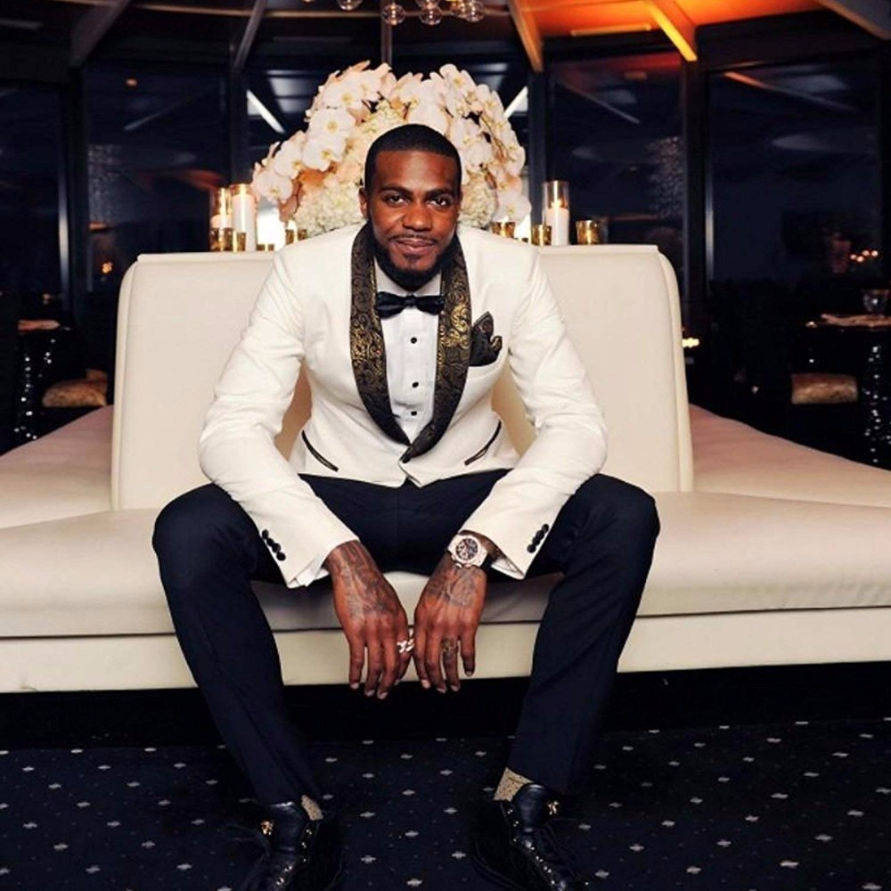 Elegant Men Suit Groom Wear 2018 New 2-Piece Groom Suit White One Button Tuxedo Wedding Party Jacket & Pants