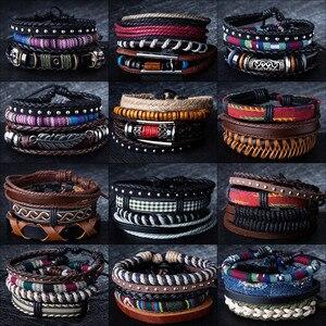 12 Style Metal Leather Bracele