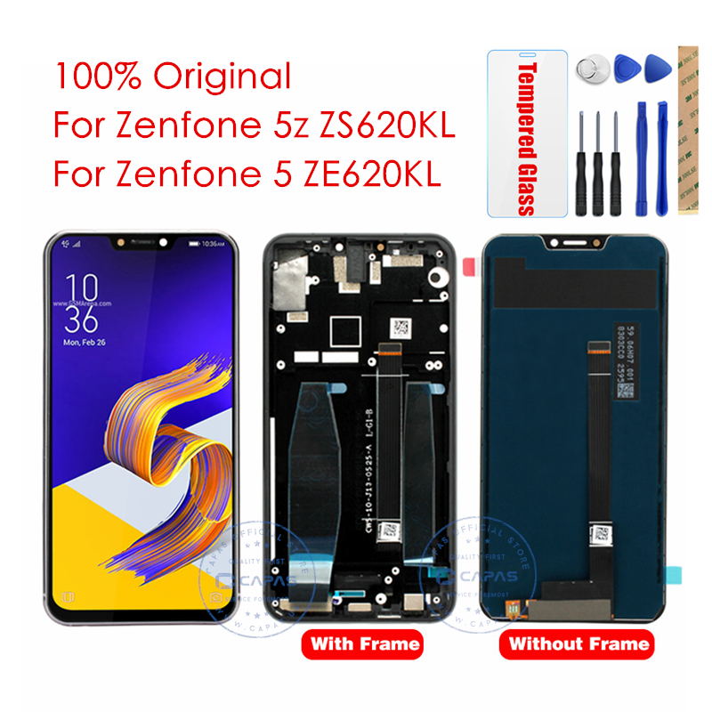Original For Asus Zenfone 5z ZS620KL LCD Display WITH Frame For Zenfone 5 ZE620KL LCD Screen
