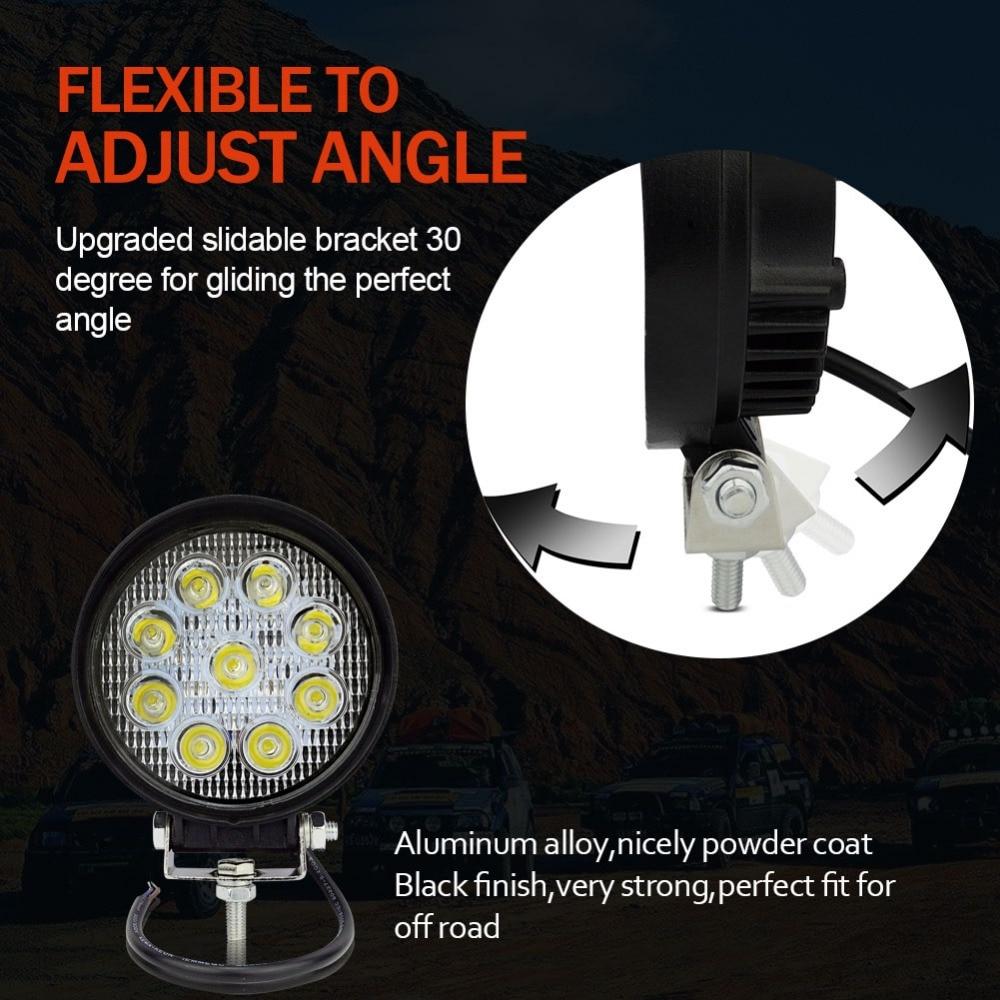 Safego 2 pcs ATV 4 inch 27 W led kerja cahaya lampu 12 V LED traktor - Lampu mobil - Foto 4