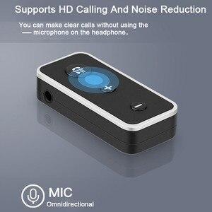 Image 2 - Bluetooth 5.0 מקלט לרכב מוסיקת סטריאו 3.5mm AUX שקע Hifi אודיו אלחוטי דיבורית מתאם עבור אוזניות רמקול עם מיקרופון