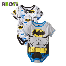 Cotton Short Sleeve Character Baby Rompers
