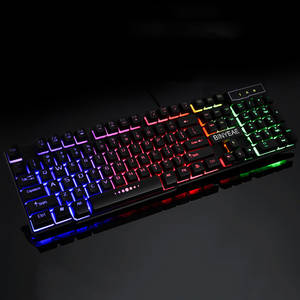 Wired Floating Gamer Gaming-Keyboard Mechanical-Feel Backlit Usb-Similar English Teclado