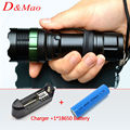 Led Flashlight 3000 Lumens CREE XM-L Q5 led Torch Zoomable LED flashlight Torch light lampe torche +1*18650 Battery +1*Charger