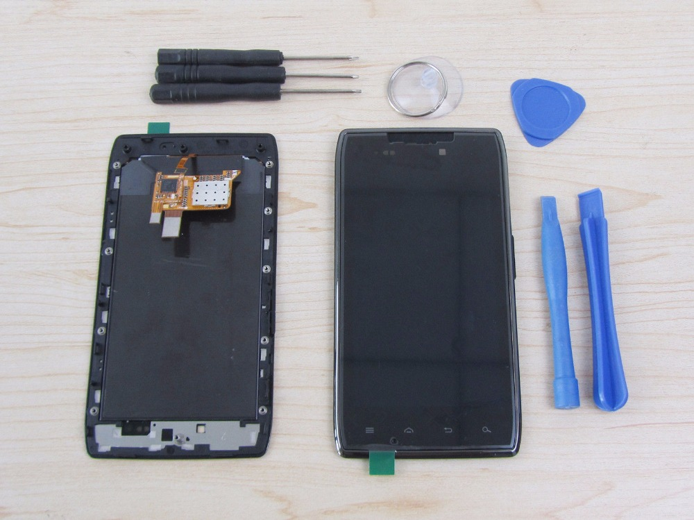 OEM LCD For Motorola Droid Razr XT910 XT912 Touch screen Display Frame assembly