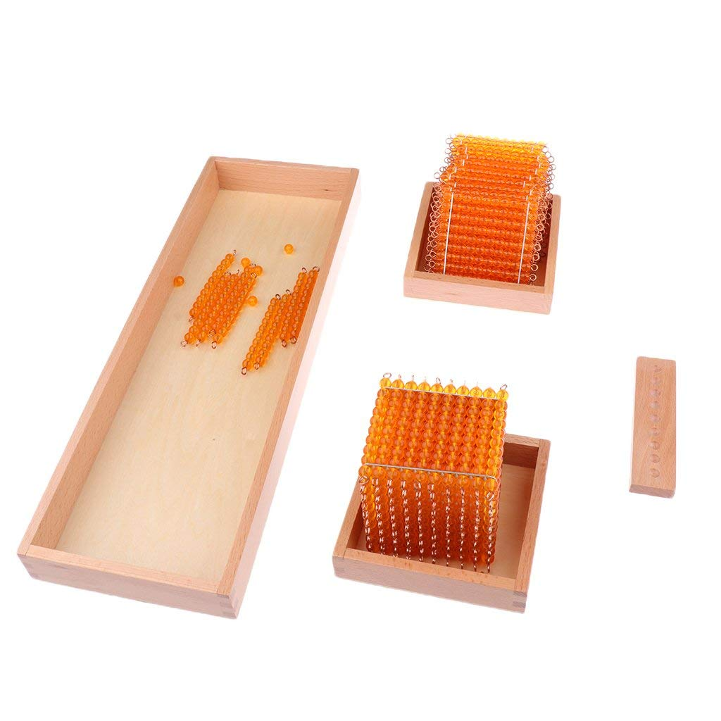 1 jeu éducatif pour enfants Montessori mathématiques jouets d'apprentissage décimaux-mille cent dix perles - 4