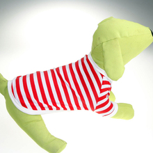 Navy Stripe Cotton Puppy T Shirts