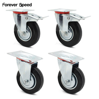 160mm Swivel Caster Furniture Wheels Trolley 4Pcs/Lot Heavy Duty 210Kg Furniture Trolley Wheel Replacement Caster
