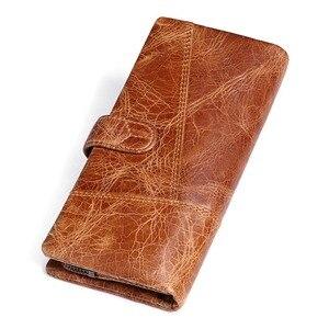 Image 2 - KAVIS 2020 New Designer Men Leather Wallets Casual Male Wallet Clutch Bag Brand Long Wallet Genuine Leather Brand Wallet For Men