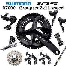 SHIMANO 5800 105 R7000 Groupset R7000 переключатель дорожный велосипед 50 34 52 36 53 39T 165 170 172,5 175 мм 12 25 11 28 30T 32T34T