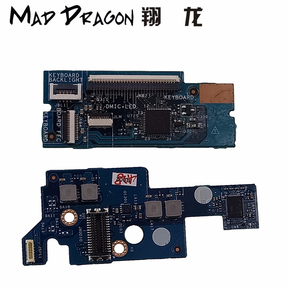 MAD DRAGON Brand Keyboard Connector Audio Port IO Circuit Board For Dell  XPS 15 9550 9560 M5510 M5520 0 P1GM9 0 X5G92 0 5G0HC