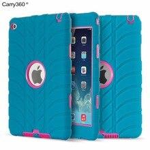 Carry360 Para Apple iPad Mini 4 Caso Niños de Grado Militar A Prueba de Golpes Para Trabajo Pesado Resistente de Silicona Cubierta Del Estuche Rígido