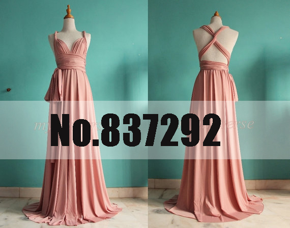 Hot Sell Pink Plus Size Long Chiffon Bridesmaid Dresses Wrap Infinity Dress  Maxi Dresses 2014 Cheap Bridesmaid Dresses under 100 20f7d67c37aa