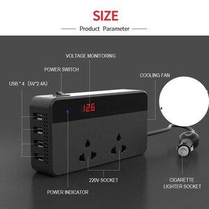Image 2 - Car Inverter 12V 220V 200W Power Inverter Voltage Converter with 4 USB Socket Charger Cigarette Lighter Adapter Auto Automobiles