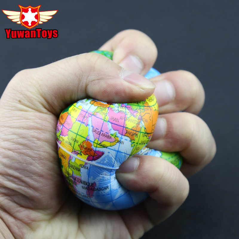 Горячая продажа карта мира пена земной шар рука наручные упражнения снятие стресса сжимает мягкий пенный шарик аутизм облегчение настроения здоровые игрушки