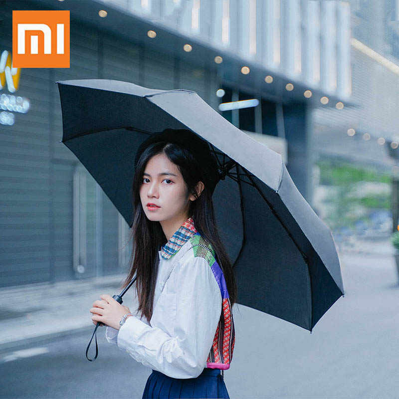 Xiaomi Folding Automatic Umbrella Rain Women Mini Umbrella Men Sun UV Umbrella Auto Luxury Windproof Modis 8K Parasol 2019 New