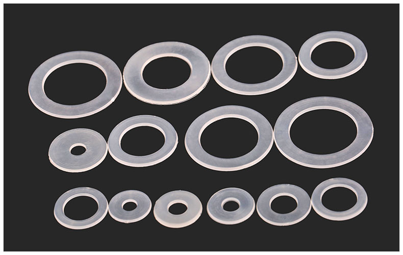 300pcs nylon Washers M10*13*1mm soft Plastic gasket transparent ...