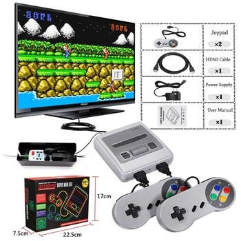 Super Mini HD Familie TV 8 Bit SNES Videospiel-konsole Retro Classic HD HD Ausgang TV Handheld-Spiel-Spieler eingebaute 621 Spiele