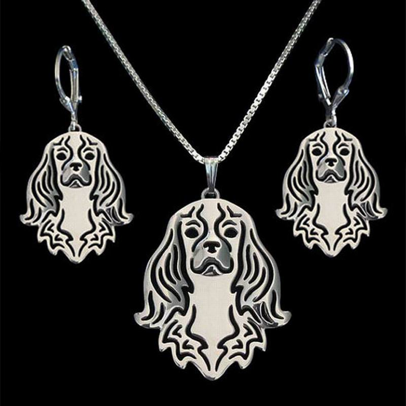 ツ)_/¯2018 mujeres de moda de plata en forma de perro joyería ...