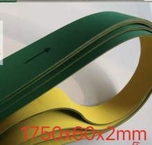 цены (Customized Size Please Contact) 1750x60x2mm banding machine Timing Belt High Speed Nylon Sheet Baseband