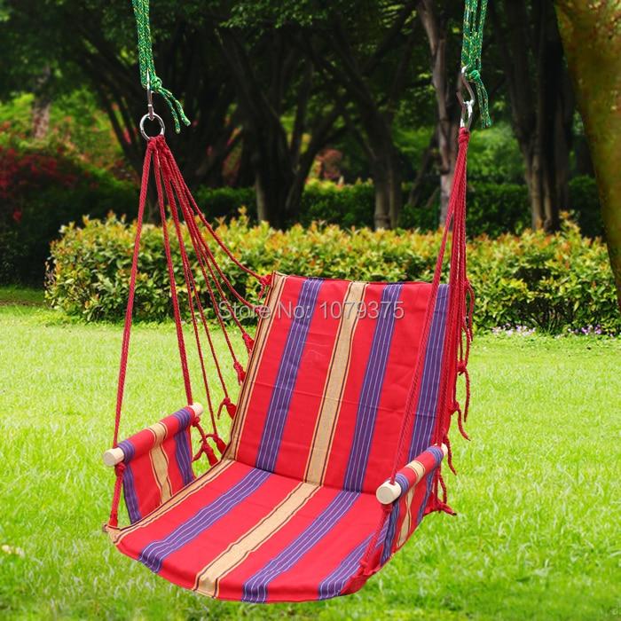Lienzo silla colgante oscilaci n patio exterior interior for Sillas colgantes para jardin