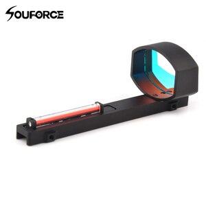 High Quality 1x40 Optics Red Fiber Dot Sight Scope for Shotguns Rifle Rib Rail Base Mount Hunting Shooting