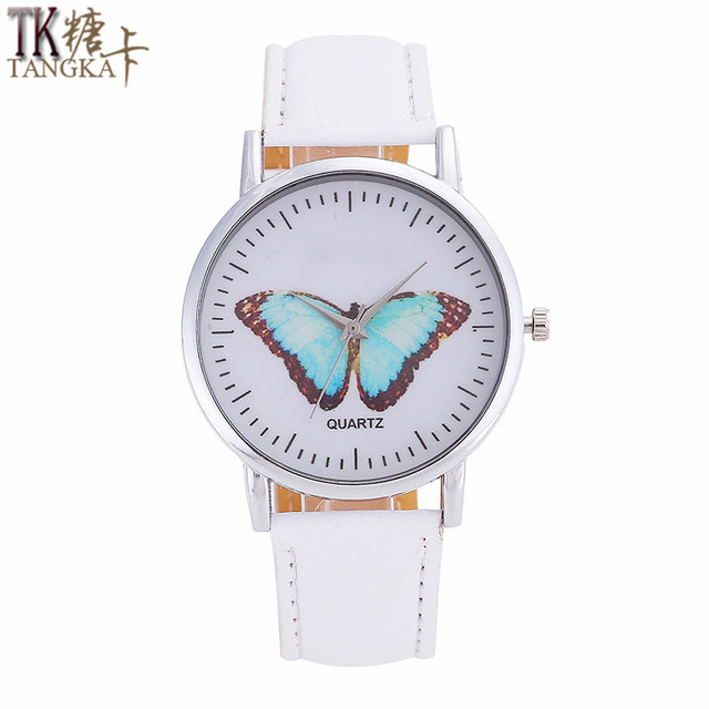 TANGKA men's ladies quartz watch Simple style butterfly display digital pointer