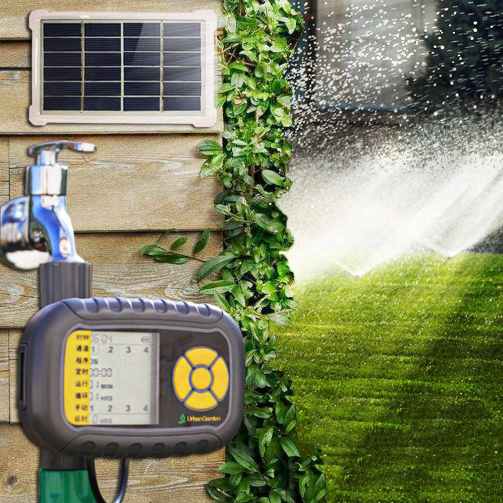 Solar Lade Gerät Automatische Bewässerung Gerät Spray System Hause Intelligente Timing Bewässerung Garten Bewässerung Controller