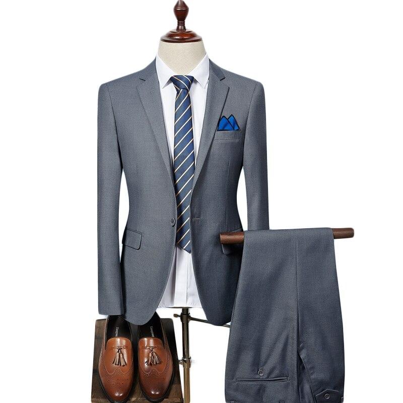 d8cfc6646 € 58.48 14% de DESCUENTO Plyesxale traje para hombre 2018 Slim Fit para  hombre Pantalones de abrigo de boda ropa Formal trajes de lujo púrpura para  ...