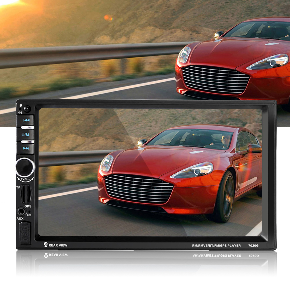 Universal HD 7 Car Audio Stereo Touch Screen Car MP5 Player GPS Navigation Bluetooth Hands-free Car Radio with Remote Control rs 1010bt car bluetooth hands free stereo mp3 player