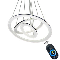 Modern Pendant Lights Fixture 3 Ring LED Chips DIY Lamp Acrylic Lampshade For Dining Room Living
