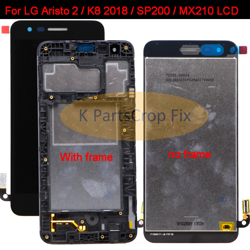 K8 2018 Mx210 Full Lcd Display+touch Screen Digitizer Assembly With Frame 100% Tested With The Most Up-To-Date Equipment And Techniques Nice New 5.0black For Lg Aristo 2 Sp200