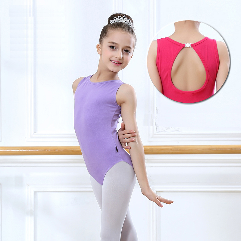 6f884ff2f Girls Ballet Leotard Sleeveless Basic Ballet Dancewear Toddler ...