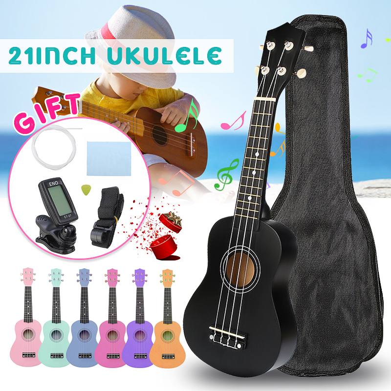 Zebra Gitarre Combo 21 zoll 15 Bünde Sopran Ukulele Uke Hawaii Bass Gitarre Musical Instrument Set Kits + Tuner + string + Gurt + Tasche
