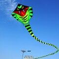 Ao ar livre Verde Cobra Cobra Pipa Voadores Vela Resina Cerf Volant Cometa Voladora Personalidade Brinquedos Pipas de Kitesurf Pipas