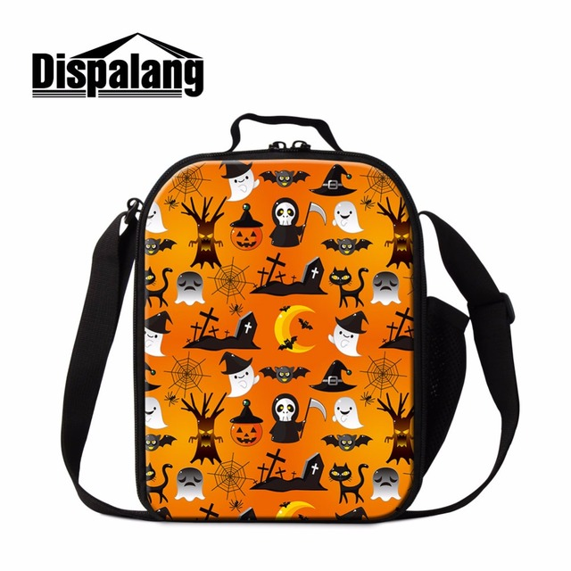dispalang new halloween party food cooler bag women insulated picnic box pumpkin lantern bolsa termica children