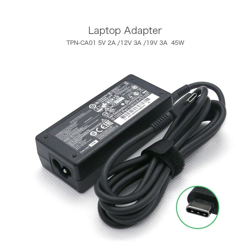 Nouveau 5 V 2A/12 V 3A/15 V 3A USB-C type-c ordinateur portable adaptateur d'alimentation pour HP Chromebook x360 11 G1 EE 11.6