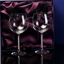 Europe high quality crystal glass wine Large goblet Lead-free Diamond Burgundy Cup Wedding Gift box set drinkware
