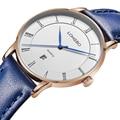 Longbo marca de moda luxo casual relógios de pulso de couro das senhoras das mulheres relógios data do calendário relógio de presente à prova d' água 80292