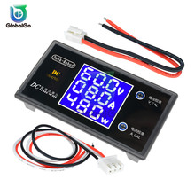DC 100V 50V 0-10A 0-5A LCD Digital Voltmeter Ammeter Wattmeter Home Car Voltage Volt Current Power Tester Meter Detector