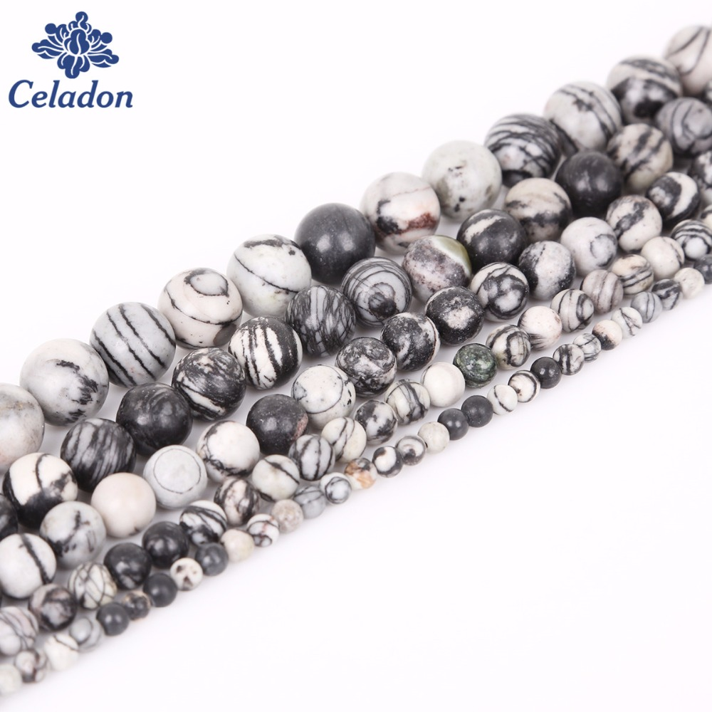 Jewelry & Accessories Selfless Hot Sales Black Zebra Beads 4/6/8/10/12 Mm 15 Natural Round Stone Beads For Handmade Jewelry Necklace&bracelet Craft Making We Take Customers As Our Gods
