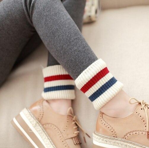 2016 Women Winter Leggings Cotton Knitted Ninth Pants Warm Leggings Thick Yuga Pants Casual Leggins Workout Clothing
