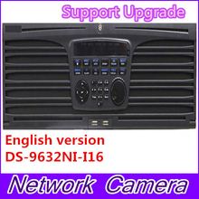 Free shipping DS-9632NI-I16 English version NVR 32CH Support up to 12MP camera, 16SATA for 16HDDs HMDI1 at up to 4K NVR RAID
